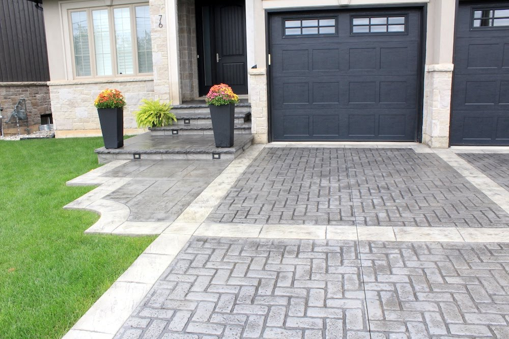 Stamped walkway gray